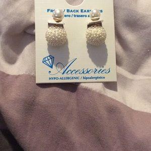 Front/back earrings